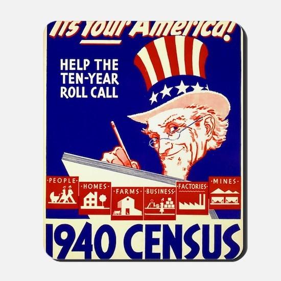 ART 1940 Census Mousepad