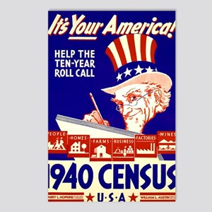 ART 1940 Census Postcards (Package of 8)