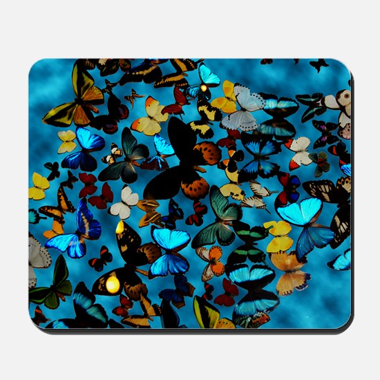 Butterflies Blue Mousepad