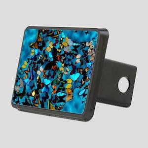 Butterflies Blue Rectangular Hitch Cover