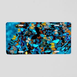 Butterflies Blue Aluminum License Plate