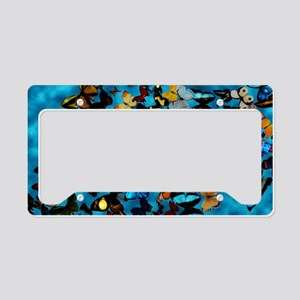 Butterflies Blue License Plate Holder