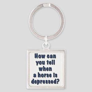 depressed horse Square Keychain