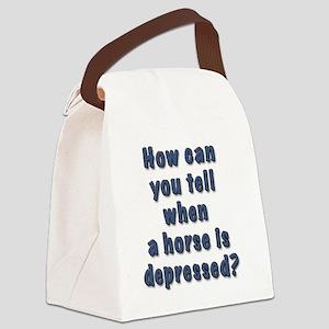depressed horse Canvas Lunch Bag