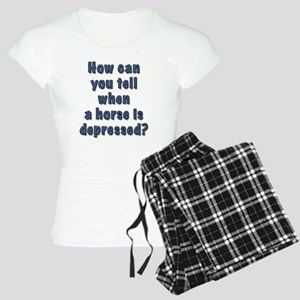 depressed horse Women's Light Pajamas