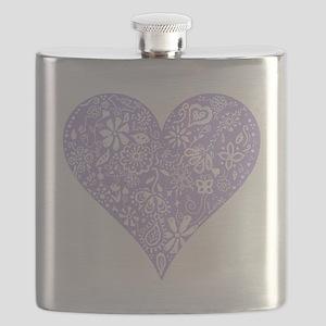 Lilac Decorative Heart Flask
