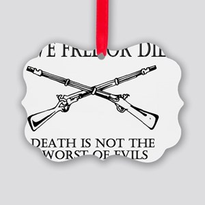 Live Free or Die_shirt Picture Ornament