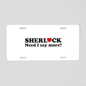 Loving Sherlock Aluminum License Plate