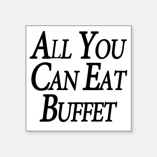 "Buffet Square Sticker 3"" x 3"""