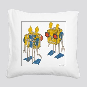 meccano martians Square Canvas Pillow