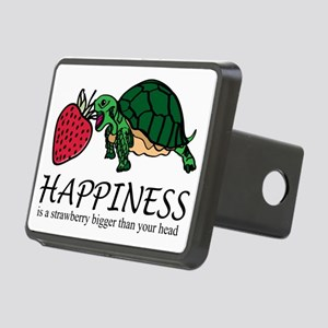 Happiness is (turtle/straw Rectangular Hitch Cover