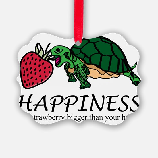 Happiness is (turtle/strawberry) Ornament