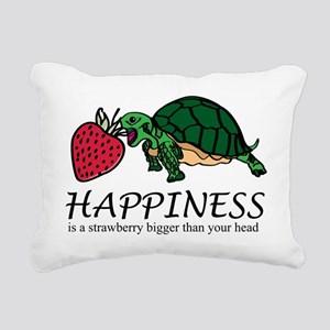 Happiness is (turtle/str Rectangular Canvas Pillow