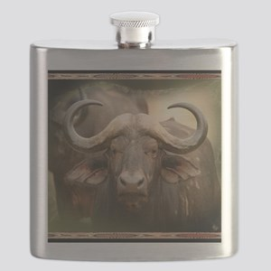 African Cape Buffalo Flask