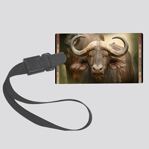 African Cape Buffalo Large Luggage Tag