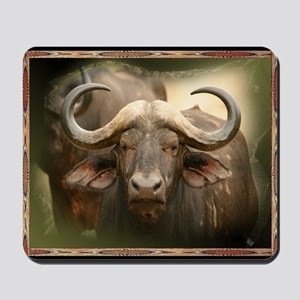 African Cape Buffalo Mousepad