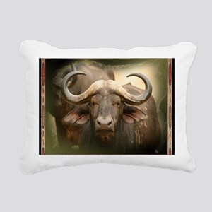 African Cape Buffalo Rectangular Canvas Pillow