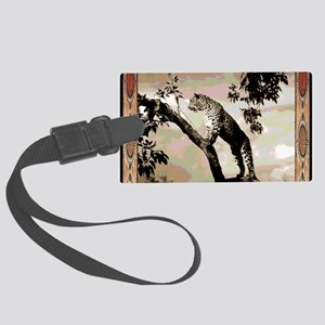african leopard 1 Large Luggage Tag