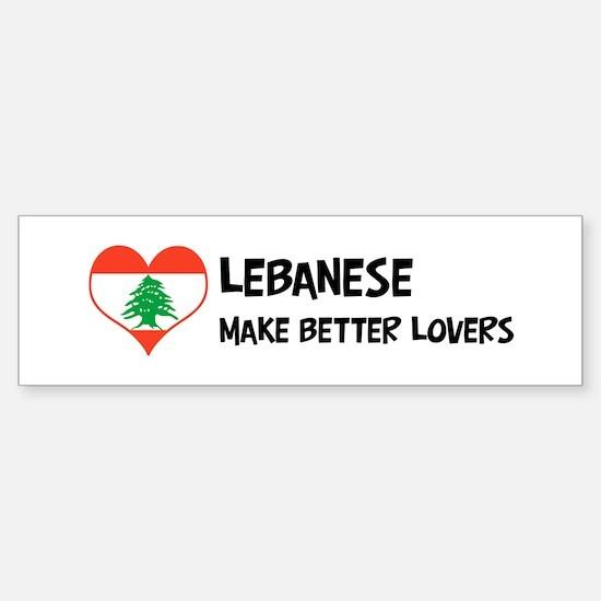 Lebanon - better lovers Bumper Bumper Bumper Sticker
