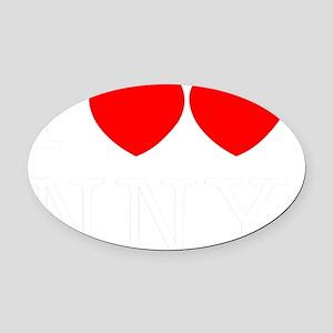 IHEARTHEARTBL Oval Car Magnet