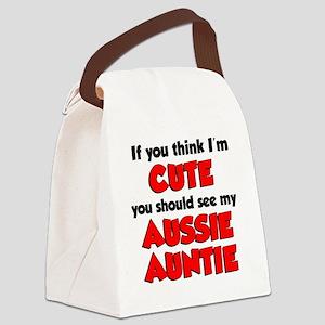 Think Im Cute Aussie Auntie Canvas Lunch Bag