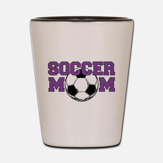 Soccer Mom In Purple - Shot Glass