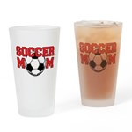 Soccer Mom In Red - Drinking Glass