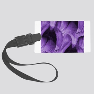 Purple Abstract Lily Luggage Tag