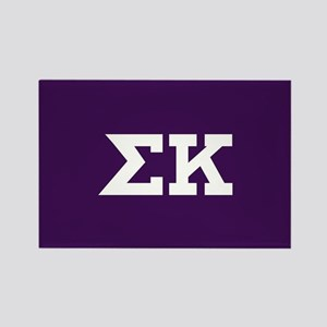 Sigma Kappa Letters Rectangle Magnet
