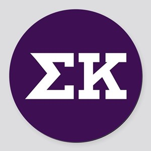Sigma Kappa Letters Round Car Magnet