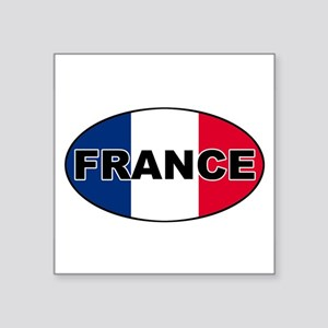 French Flag Oval Sticker