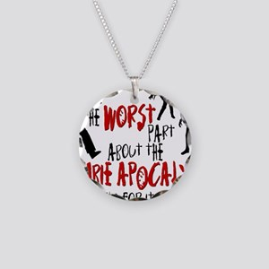 worst zombie Necklace Circle Charm