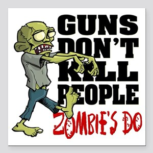 "KILL PEOPLE Square Car Magnet 3"" x 3"""
