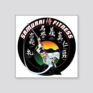 "SamuraiFitnessT-Shirt Square Sticker 3"" x 3"""