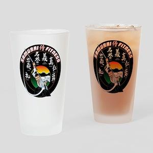 SamuraiFitnessT-Shirt Drinking Glass