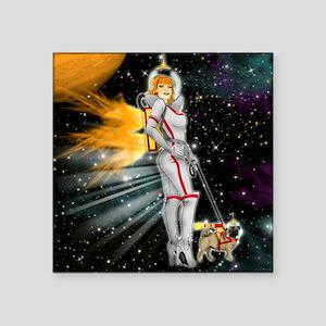 """WALKIN-THE-DOG-RETRO-FUTURE Square Sticker 3"""" x 3"""""""
