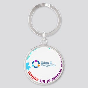 Sibling designs brother 2 Round Keychain