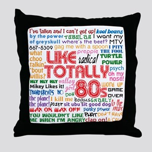 like totally 80s transparent bg Throw Pillow