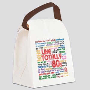 like totally 80s transparent bg Canvas Lunch Bag
