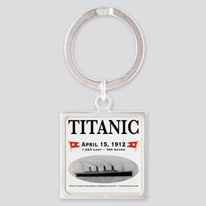TG2 Ghost Boat 12x12-b Square Keychain