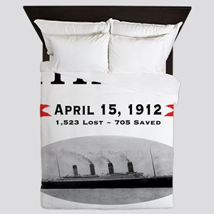 TG2 Ghost Boat 12x12-b Queen Duvet