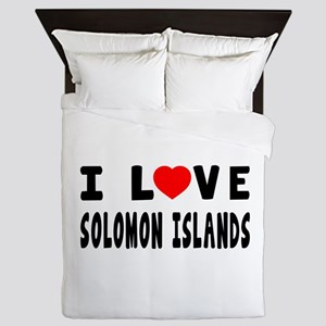 I Love Solomon Islands Queen Duvet