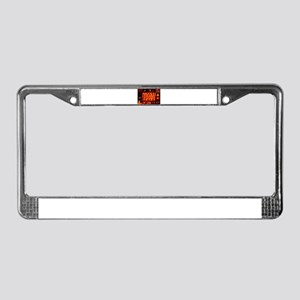 Candle Collage License Plate Frame