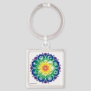 Religions_Mandala_10x10_apparel Square Keychain