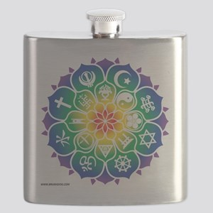 Religions_Mandala_10x10_apparel Flask