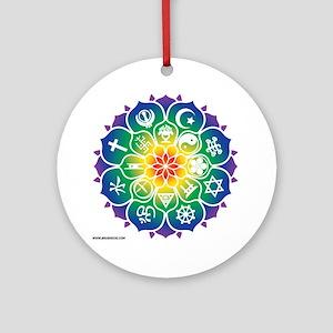 Religions_Mandala_10x10_apparel Round Ornament