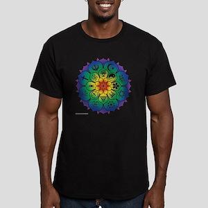Religions_Mandala_10x1 Men's Fitted T-Shirt (dark)