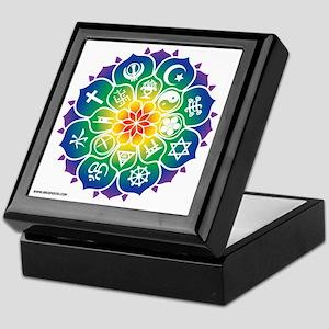 Religions_Mandala_10x10_apparel Keepsake Box