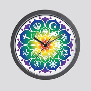 Religions_Mandala_10x10_apparel Wall Clock