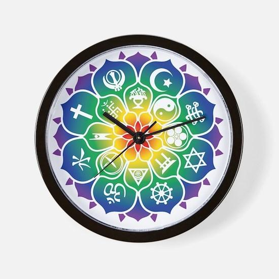 Religions_Mandala_10x10_apparel Wall Clock